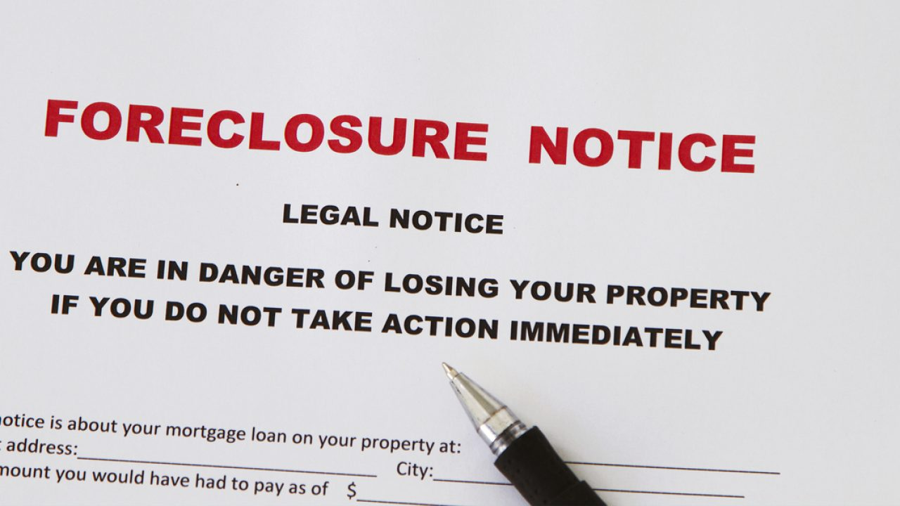 notice for foreclosure